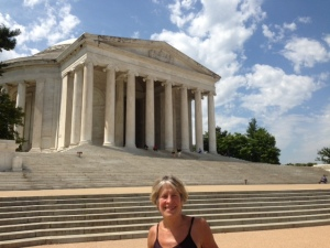 Hannah at the Jefferson Memorial