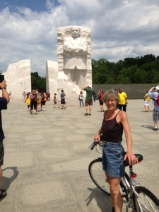 Hannah at the MLK jr. Memorial