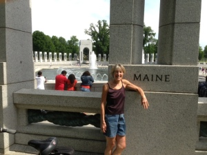 Hannah at the World War II Memorial