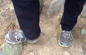 Thru-hiker Smiles' AT hiking shoes