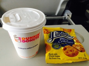 dunkin coffee and cookies
