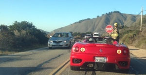 Waiting in line on the Pacific Coast Highway